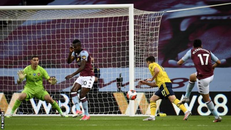 EPL: Villa beat Arsenal to move out of relegation zone, Man City thump Watford